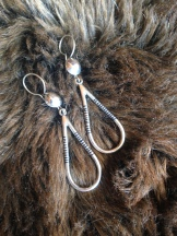 Teardrop earrings (ALLOY not pure silver) $10